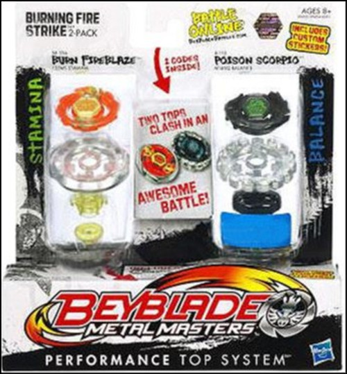 Beyblade Metal Masters Sonic Series Burning Fire Strike Exclusive 2-Pack BB59A