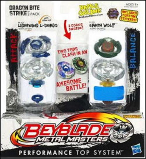 Beyblade Metal Masters Dragon Bite Strike Exclusive 2-Pack BB43C
