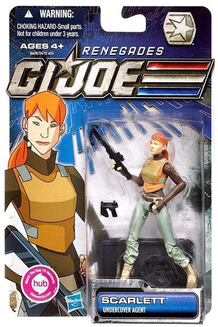 GI Joe 30th Anniversary Renegades Scarlett Action Figure