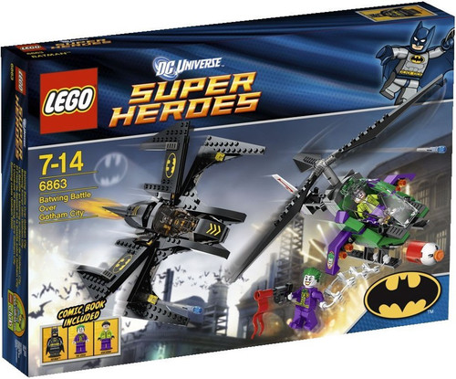 LEGO DC Universe Super Heroes Batwing Battle Over Gotham City Set #6863