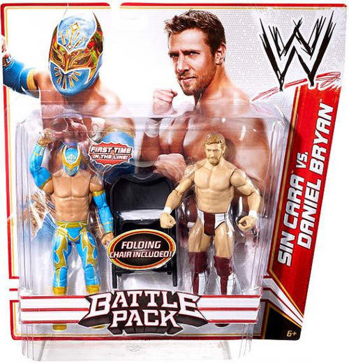 WWE Wrestling Series 15 Sin Cara vs. Daniel Bryan Action Figure 2-Pack [Folding Chair]
