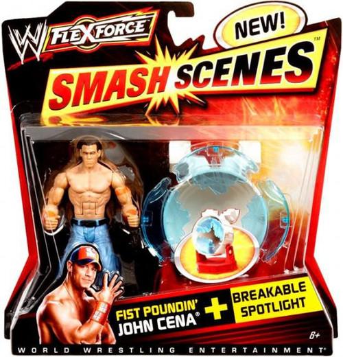 WWE Wrestling FlexForce Smash Scenes Fist Poundin' John Cena Action Figure