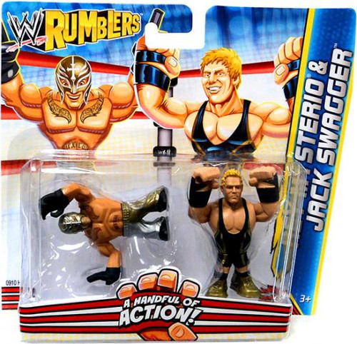 WWE Wrestling Rumblers Series 2 Rey Mysterio & Jack Swagger Mini Figure 2-Pack
