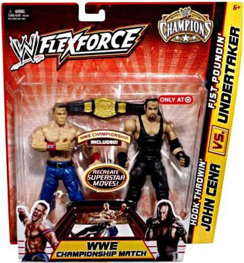 WWE Wrestling FlexForce Champions Hook Throwin' John Cena Vs. Fist Poundin' Undertaker Exclusive Action Figure 2-Pack