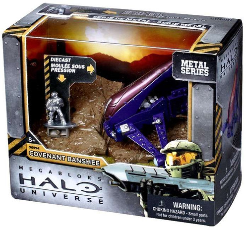 Mega Bloks Halo Metal Series Covenant Banshee Set #96994