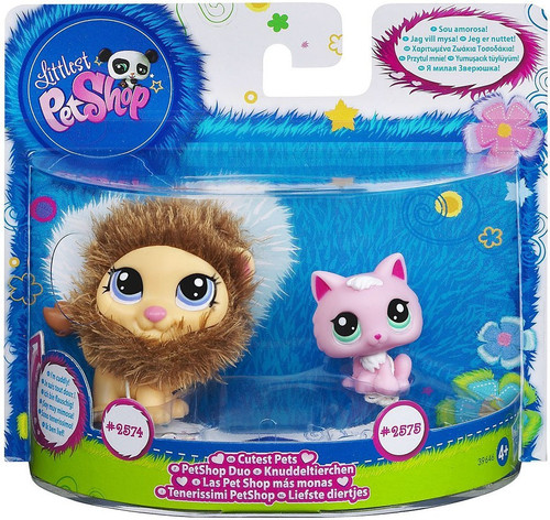 Littlest Pet Shop Cutest Pets Lion & Kitten Figure 2-Pack #2574, 2575