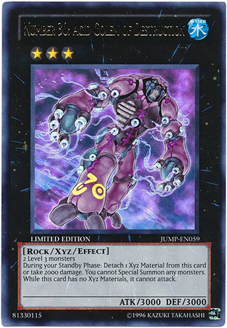 YuGiOh Shonen Jump Ultra Rare Number 30: Acid Golem of Destruction JUMP-EN059