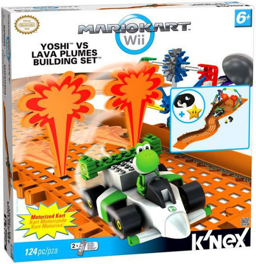 K'NEX Super Mario Mario Kart Wii Yoshi vs Lava Plumes Exclusive Set #38466