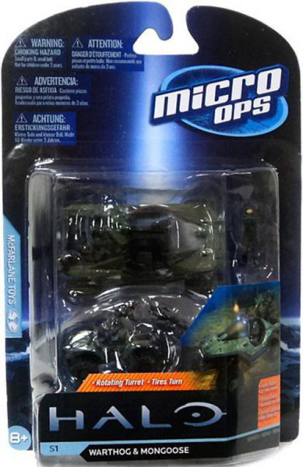 McFarlane Toys Halo Micro Ops Series 1 Warthog & Mongoose Small Mini Figure