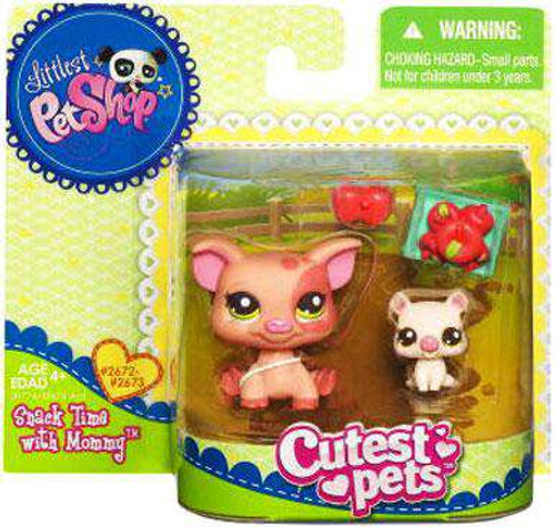 Littlest Pet Shop Cutest Pets Mommy & Baby Feeding Time Pigs Figure 2-Pack