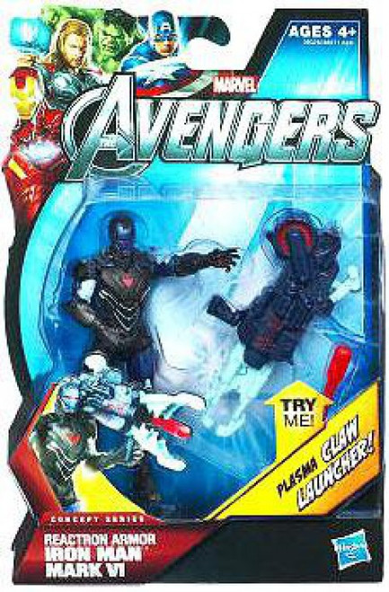 Marvel Avengers Concept Series Reactron Armor Iron Man Mark VI Action Figure