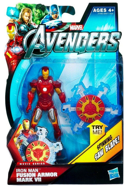 Marvel Avengers Movie Series Fusion Armor Mark VII Iron Man Action Figure