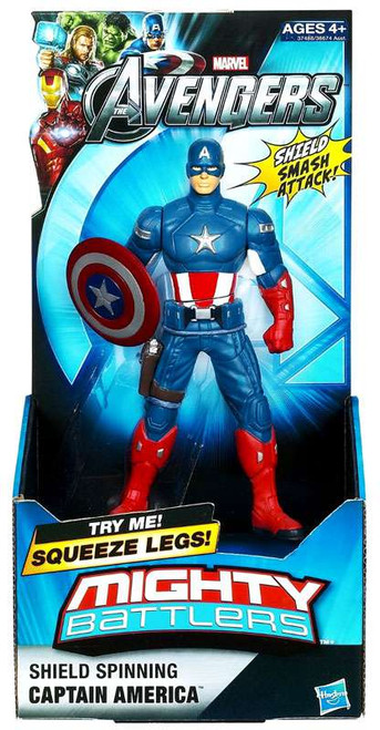 Marvel Avengers Mighty Battlers Shield Spinning Captain America Action Figure