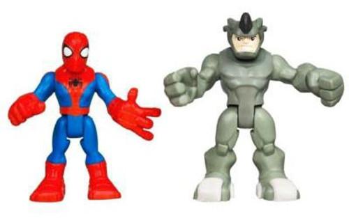 Marvel Playskool Heroes Spider-Man Adventures Spider-Man & Rhino Action Figure Set