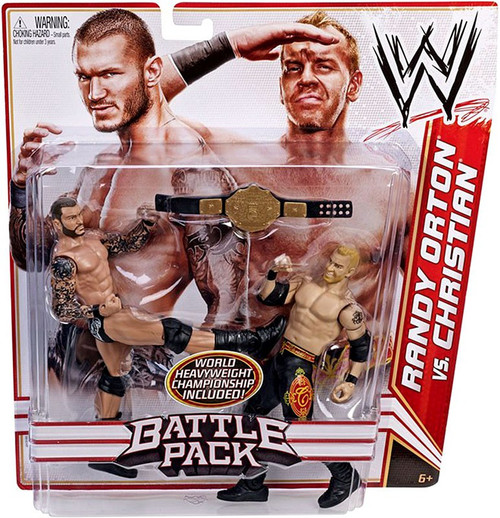 WWE Wrestling Series 16 Randy Orton vs. Christian Action Figure 2-Pack [World Heavyweight Championship]