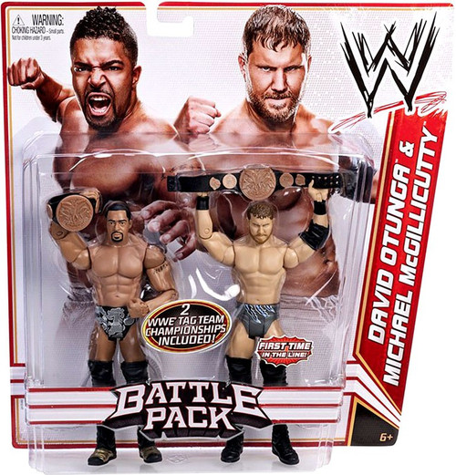 WWE Wrestling Series 16 David Otunga & Michael McGillicutty (Curtis Axel) Action Figure 2-Pack [2 WWE Tag Team Championships]