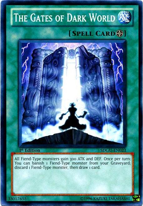 YuGiOh 5D's Structure Deck: Gates of the Underworld Common The Gates of Dark World SDGU-EN023