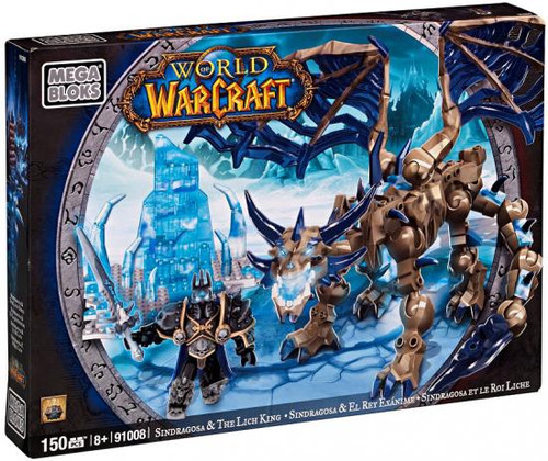 Mega Bloks World of Warcraft Sindragosa & Lich King Set #91008