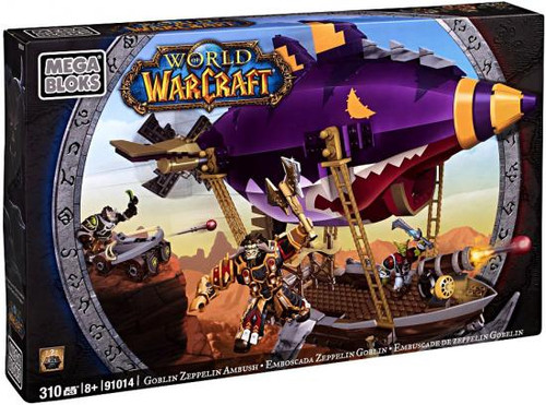 Mega Bloks World of Warcraft Goblin Zeppelin Ambush Set #91014