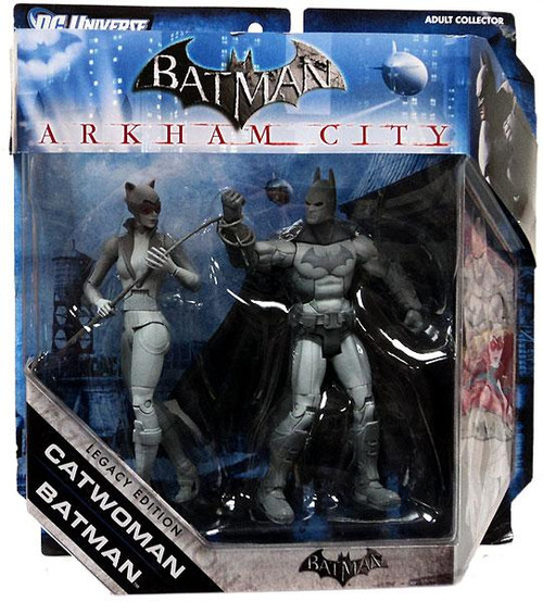 Black & White Batman & Catwoman Action Figure 2-Pack [Black & White]