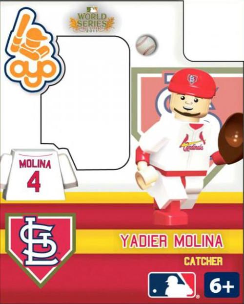 St. Louis Cardinals MLB 2011 World Series Yadier Molina Minifigure