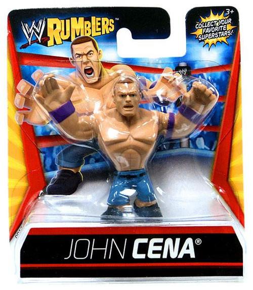 WWE Wrestling Rumblers Series 1 John Cena Mini Figure [Purple Wristbands]