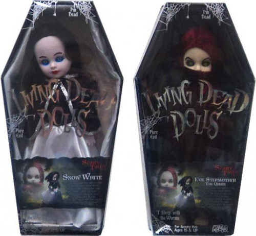Living Dead Dolls Scary Tales Snow White & Evil Queen Dolls