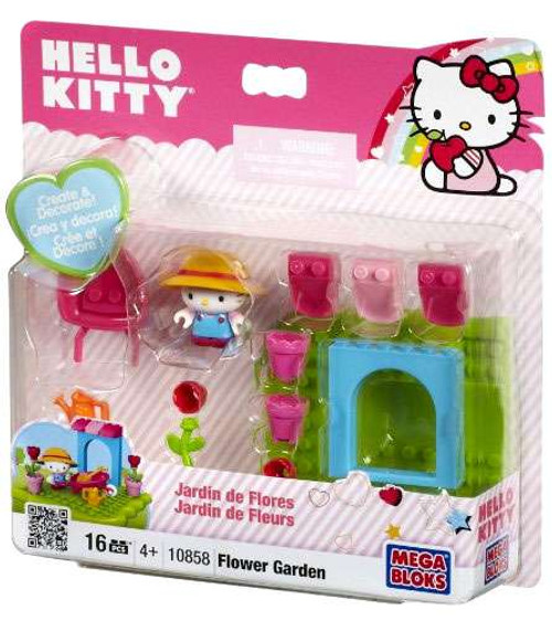 Mega Bloks Hello Kitty Create & Decorate Flower Garden Set #10858