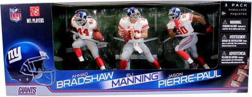 McFarlane Toys NFL Sports Picks 3-Packs New York Giants Action Figure 3-Pack [White Jerseys]