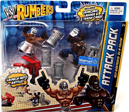 WWE Wrestling Rumblers Series 2 Rey Mysterio Vs. R-Truth Exclusive Mini Figure 2-Pack
