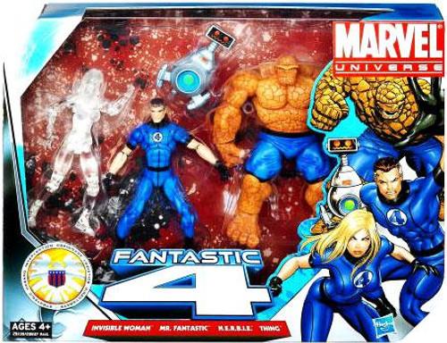 Marvel Universe Super Hero Team Packs Fantastic Four Action Figure Set [Clear Invisible Woman]