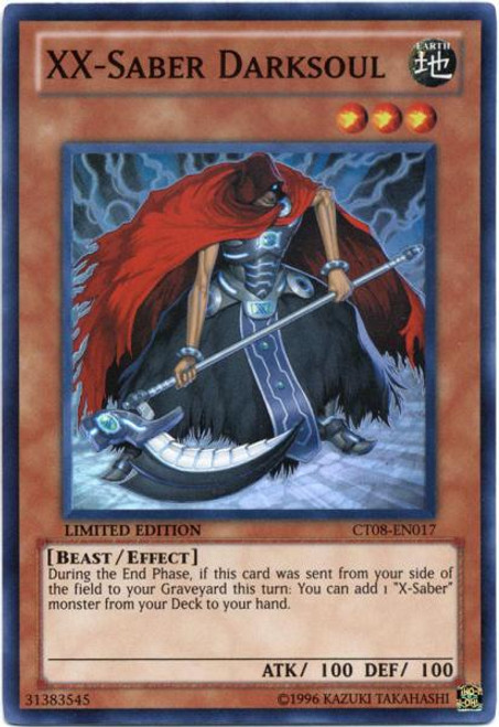 YuGiOh Zexal Holiday Tin Promo Super Rare XX-Saber Darksoul CT08-EN017