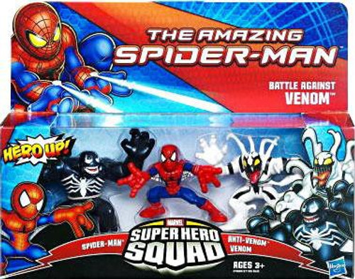 The Amazing Spider-Man Super Hero Squad Battle Against Venom Mini Figure 3-Pack