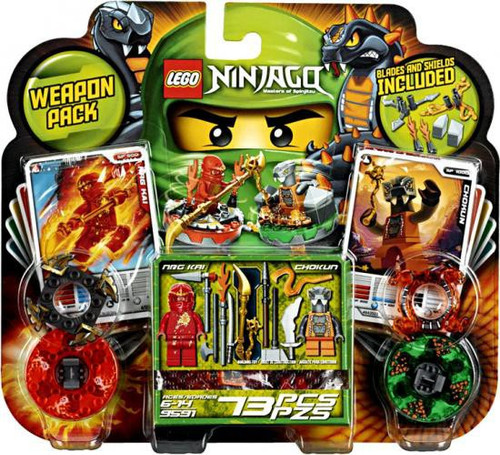 LEGO Ninjago Spinjitzu Spinners Weapon Pack Set #9591