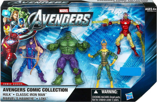 Marvel Comic Series Avengers Comic Collection Exclusive Action Figure 4-Pack [Set #2]