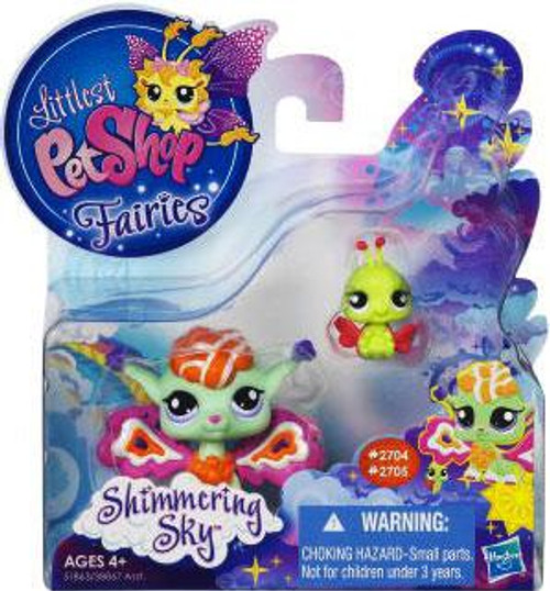 Littlest Pet Shop Fairies Shimmering Sky Sunscape Fairy & Ladybug Figure 2-Pack #2704, 2705