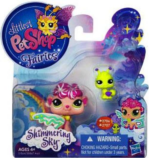 Littlest Pet Shop Fairies Shimmering Sky Sea Breeze Fairy & Ant Figure 2-Pack #2706, 2707