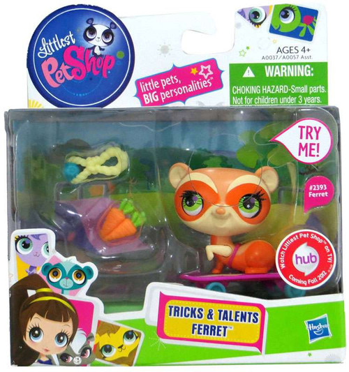 Littlest Pet Shop Tricks & Talents Ferret Figure #2391
