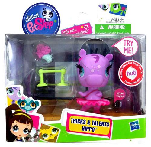 Littlest Pet Shop Tricks & Talents Hippo Figure #2394