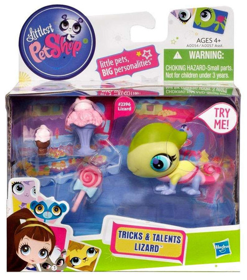 Littlest Pet Shop Tricks & Talents Lizard Figure #2396