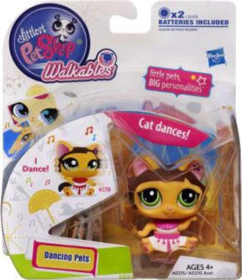 Littlest Pet Shop Walkables Dancing Pets Cat Figure