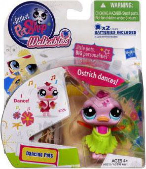Littlest Pet Shop Walkables Dancing Pets Ostrich Figure