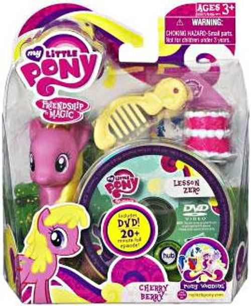 My Little Pony Friendship is Magic Pony Wedding Cherry Berry & Lesson Zero DVD Figure Set
