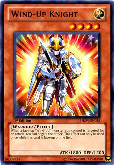 YuGiOh Zexal Photon Shockwave Rare Wind-Up Knight PHSW-EN023