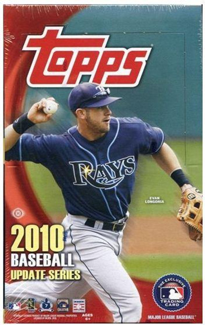 MLB 2010 Topps Update Baseball Cards Hobby Box
