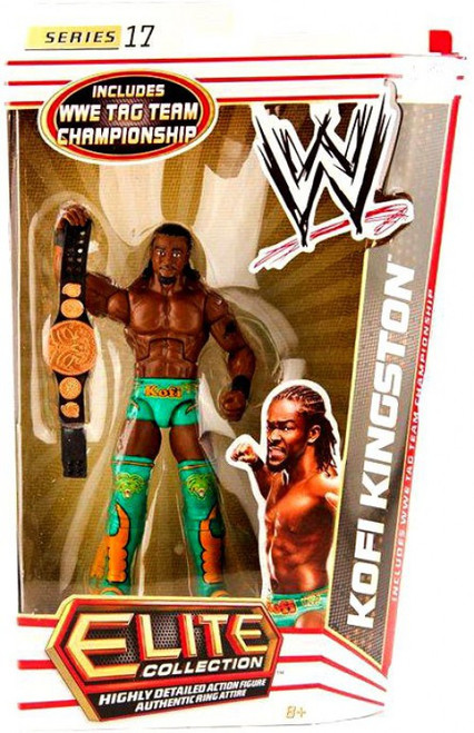 WWE Wrestling Elite Series 17 Kofi Kingston Action Figure [WWE Tag Team Championship Belt]