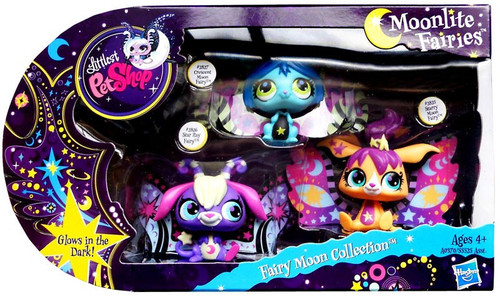 Littlest Pet Shop Moonlite Fairies Fairy Moon Collection Exclusive Figure Set