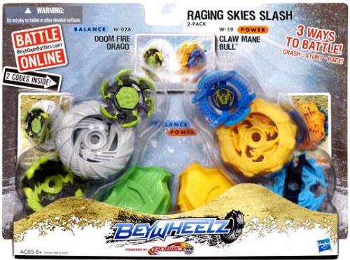 Beyblade Beywheelz Raging Skies Slash 2-Pack W-02A, W-19