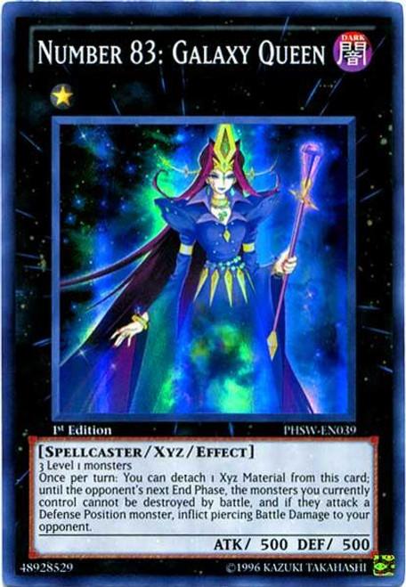 YuGiOh Zexal Photon Shockwave Super Rare Number 83: Galaxy Queen PHSW-EN039