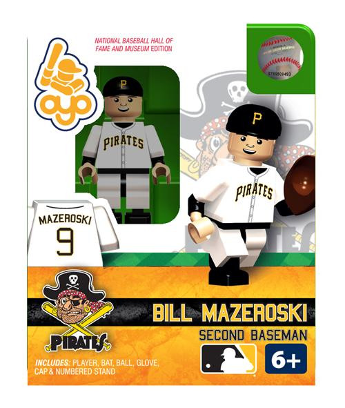 Pittsburgh Pirates MLB Hall of Fame Bill Mazeroski Minifigure